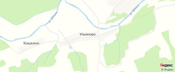 Карта деревни Ульяново в Тверской области с улицами и номерами домов