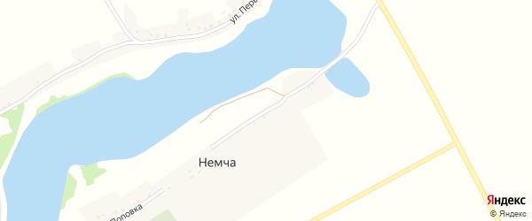 Улица Власовка на карте села Немчи Курской области с номерами домов