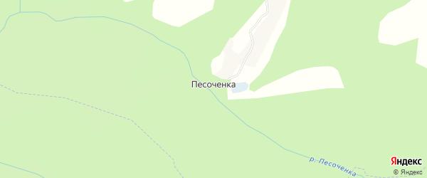 Карта деревни Песоченка в Калужской области с улицами и номерами домов