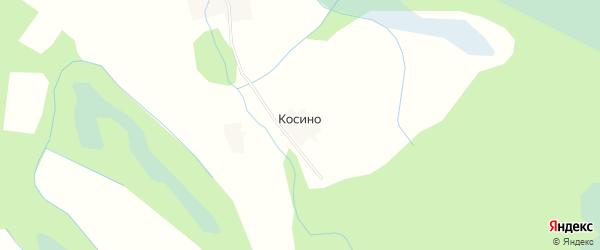 Карта деревни Косино в Вологодской области с улицами и номерами домов