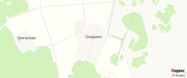 Карта деревни Опарино в Тверской области с улицами и номерами домов