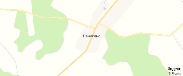 Карта деревни Панигино в Тверской области с улицами и номерами домов