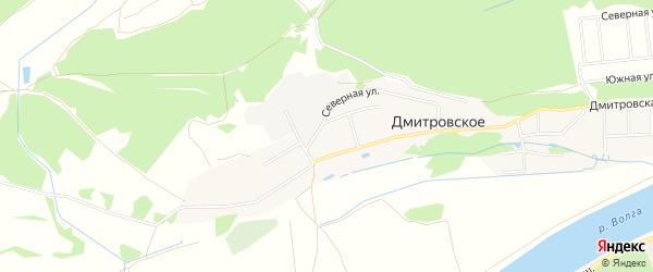 Карта деревни Дмитровского в Тверской области с улицами и номерами домов