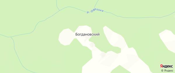 Карта Богдановского поселка в Калужской области с улицами и номерами домов