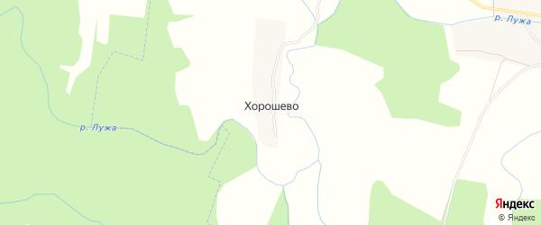 Карта деревни Хорошево в Калужской области с улицами и номерами домов