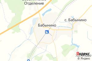 Карта с. Бабынино Калужская область