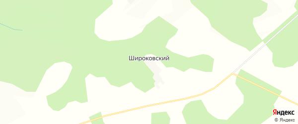 Карта Широковский поселка в Калужской области с улицами и номерами домов