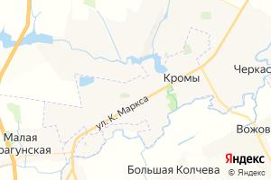 Карта пгт Кромы
