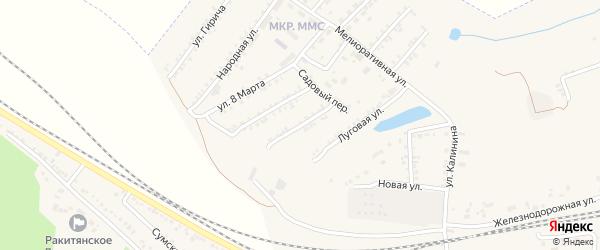 Комсомольская улица на карте Пролетарского поселка с номерами домов