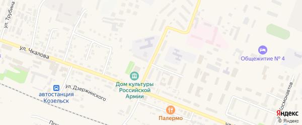 Улица Генерала Бурмака на карте Козельска с номерами домов