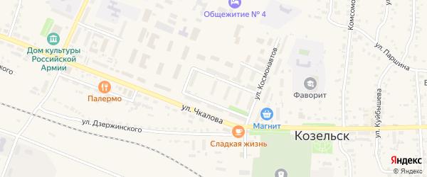Территория Гк Кооператив 7 на карте Козельска с номерами домов