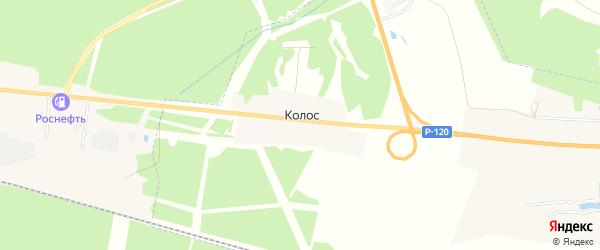 Карта поселка Колоса в Орловской области с улицами и номерами домов