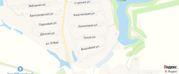 Тихая улица на карте Пролетарского поселка с номерами домов