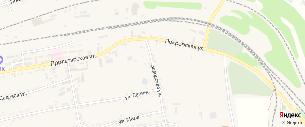 Заводская улица на карте Пролетарского поселка с номерами домов