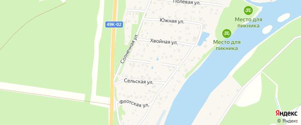 Российская улица на карте Пестово с номерами домов