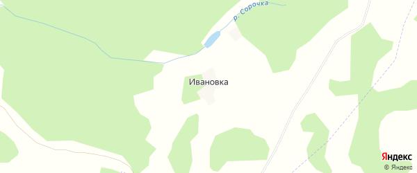Карта деревни Ивановки в Калужской области с улицами и номерами домов