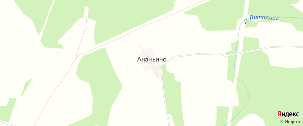 Карта деревни Ананьино в Тверской области с улицами и номерами домов