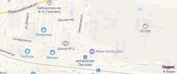 Заводской переулок на карте Пестово с номерами домов