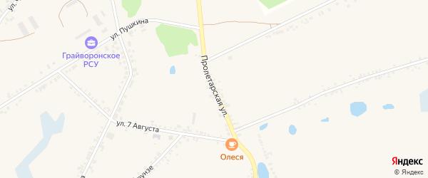 Пролетарская улица на карте села Головчино с номерами домов