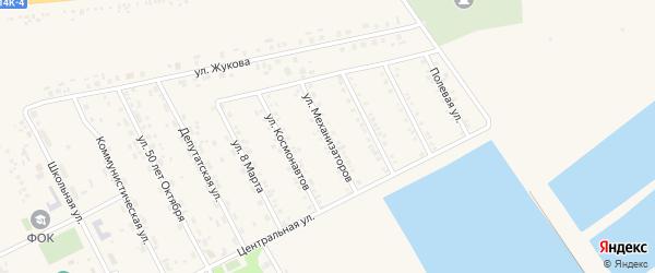 Улица Механизаторов на карте села Головчино с номерами домов