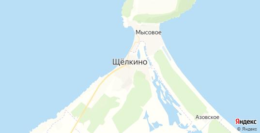 Карта Щелкино с улицами и домами подробная. Показать со спутника номера домов онлайн