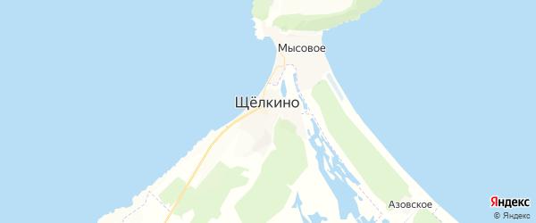Карта Щелкино с районами, улицами и номерами домов