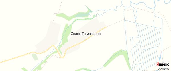 Карта деревни Спасс-Помазкино в Московской области с улицами и номерами домов