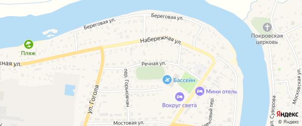 Речная улица на карте Пестово с номерами домов