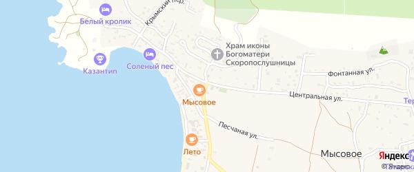Черешневая улица на карте территории СПК Нептуна Крыма с номерами домов