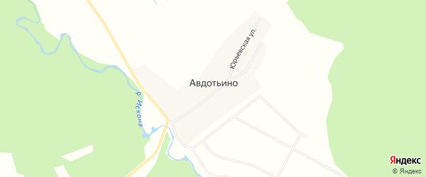 Карта деревни Авдотьино в Московской области с улицами и номерами домов