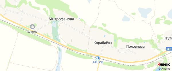 Карта деревни Митрофанова в Курской области с улицами и номерами домов