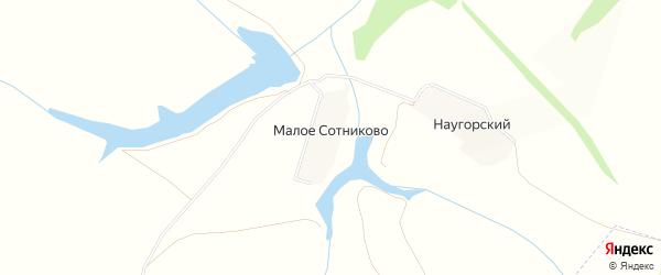 Карта деревни Малое Сотниково в Орловской области с улицами и номерами домов