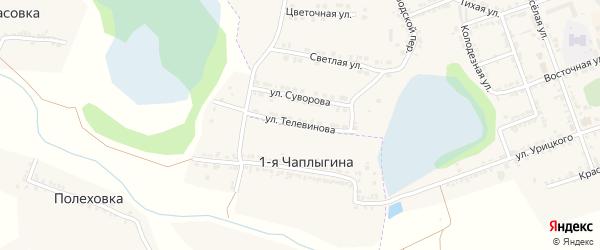 Улица Телевинова на карте Фатежа с номерами домов