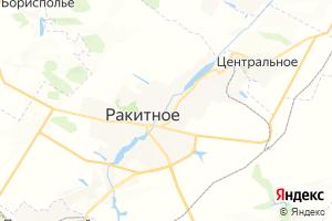 Карта пос. Ракитное Белгородская область