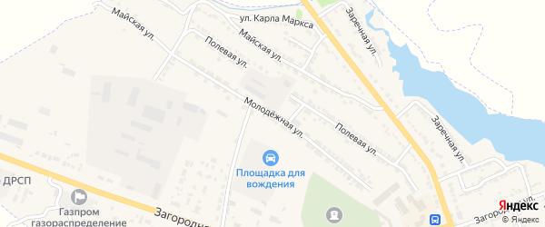 Молодежная улица на карте Фатежа с номерами домов