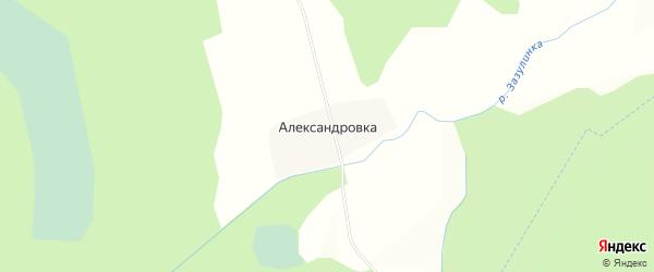 Карта деревни Александровки в Калужской области с улицами и номерами домов