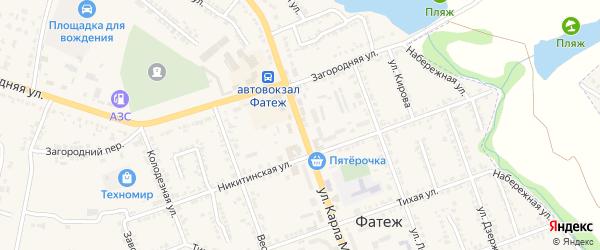 Улица К.Маркса на карте Фатежа с номерами домов
