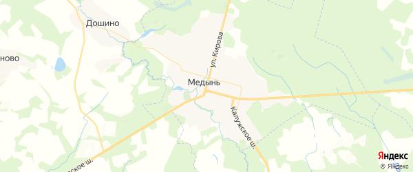 Карта Медыни с районами, улицами и номерами домов