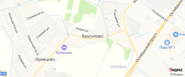 Карта деревни Брусилово в Тверской области с улицами и номерами домов
