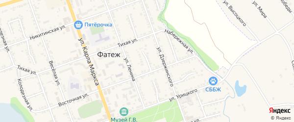 Восточный переулок на карте Фатежа с номерами домов