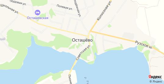 Карта села Осташево в Московской области с улицами, домами и почтовыми отделениями со спутника онлайн