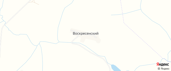 Карта Воскресенского поселка в Орловской области с улицами и номерами домов