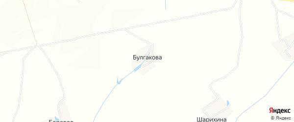 Карта деревни Булгакова в Орловской области с улицами и номерами домов