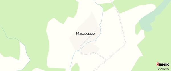Карта деревни Макарцево в Калужской области с улицами и номерами домов