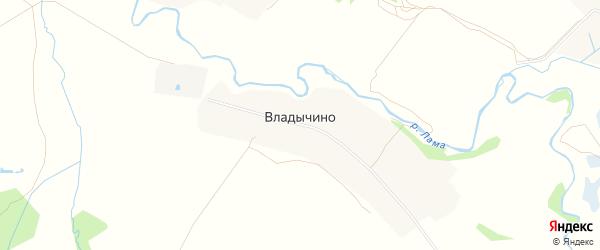 Карта деревни Владычино в Московской области с улицами и номерами домов
