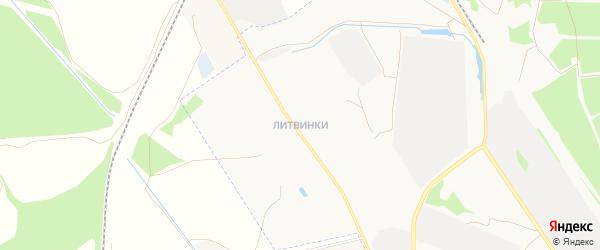 Карта поселка Литвинки города Твери в Тверской области с улицами и номерами домов
