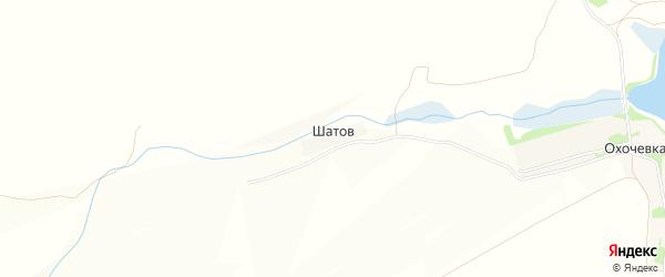Карта хутора Шатова в Курской области с улицами и номерами домов