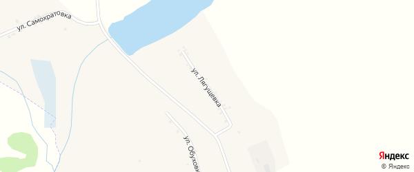 Улица Лягущевка на карте села Введенской Готни с номерами домов
