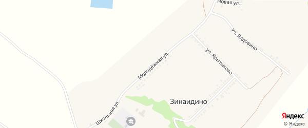 Молодежная улица на карте села Зинаидино с номерами домов