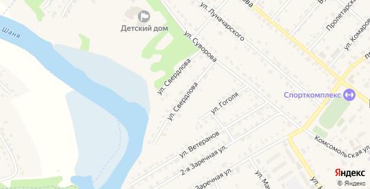 Улица Свердлова в Кондрово с номерами домов на карте. Спутник и схема онлайн